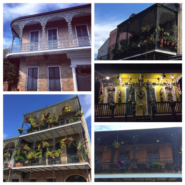 Homes in New Orleans – the bottom right is the flag from my Alma Mater 🙂
