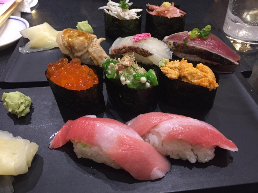 sushi in Tokyo – it's like a work of art!