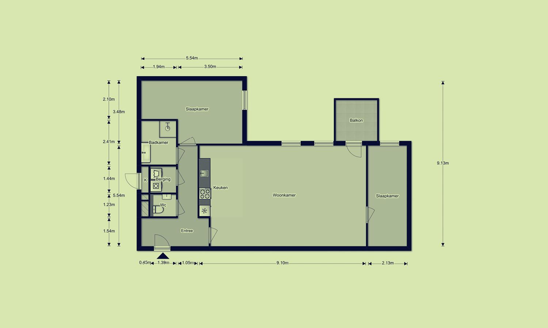 MAAN gebouw 6, plattegrond type F8