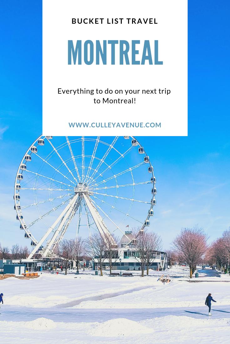 Bucket List Montreal