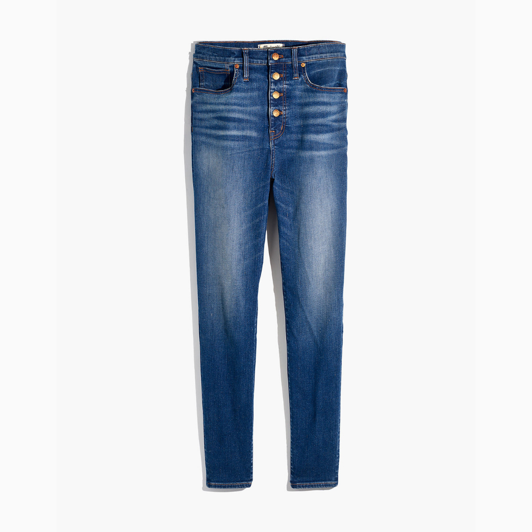 quality denim - Whether you're into skinny, bootcut, wide leg, etc., quality denim is a must. Your capsule collection denim shouldn't have any holes in them. You need one pair of jeans that can be worn to nice places.