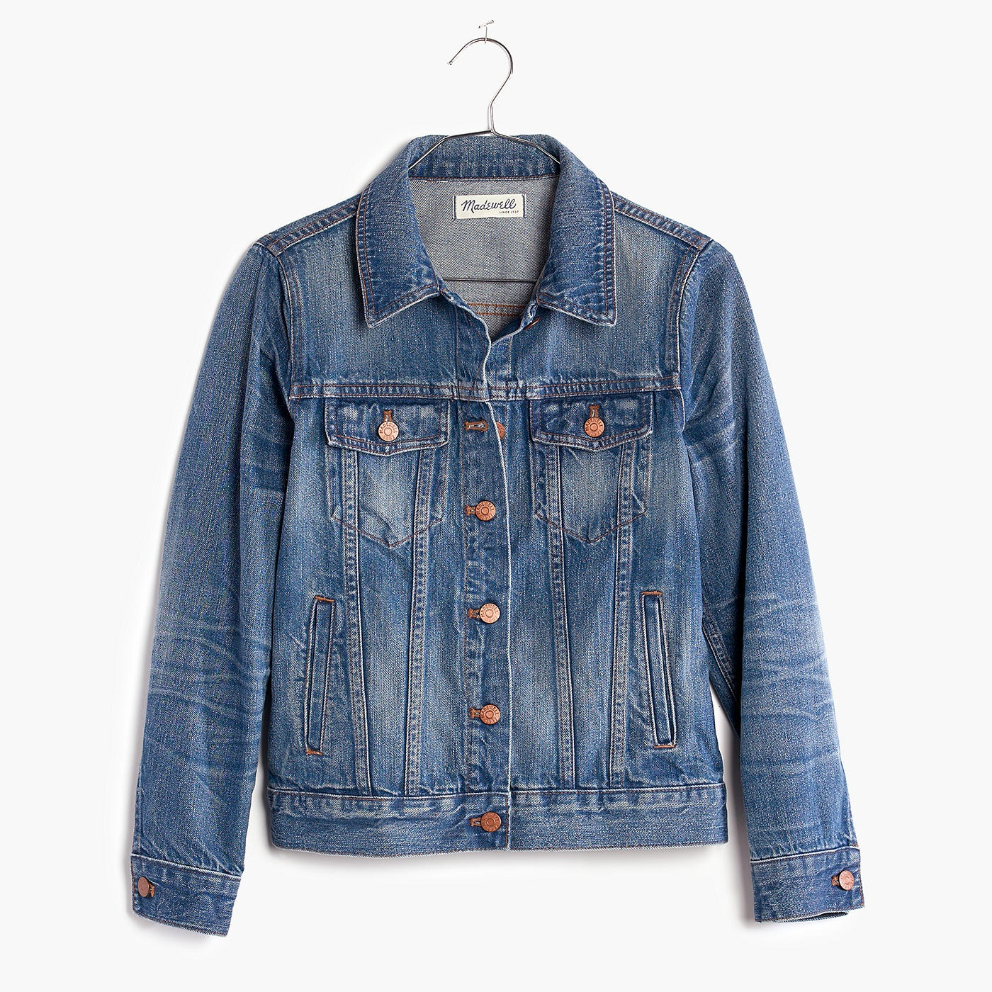 denim jacket - Denim jackets are perfect to go over any outfit, especially dresses when you don't want to show your arms.