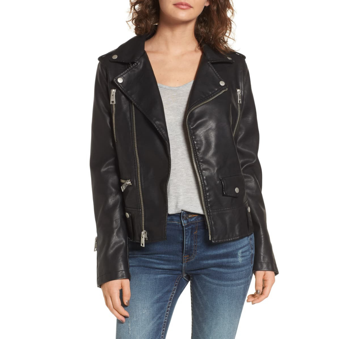 faux leather jacket - Another great option to wear over dresses. Also, a great coat to wear on date nights.