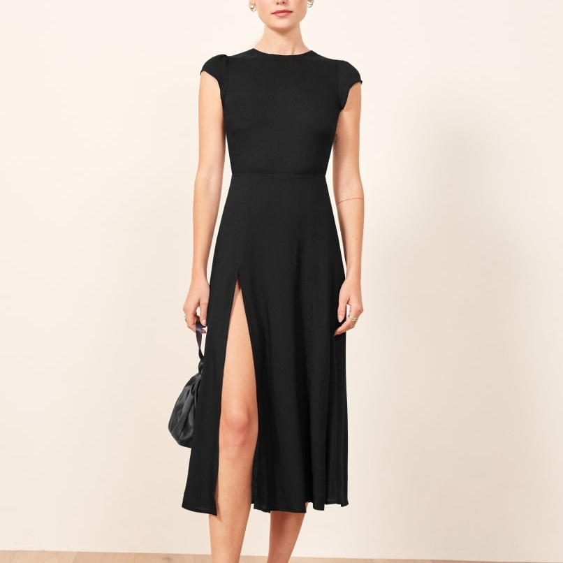 black dress - A black dress in a timeless cut is necessary. Weddings, funerals, events, etc. Always keep a black dress in your closet.