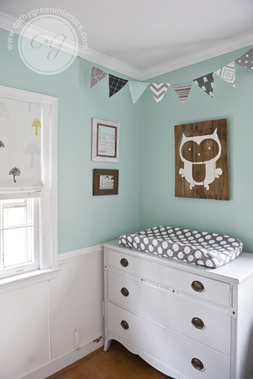woodland nursery gray dresser