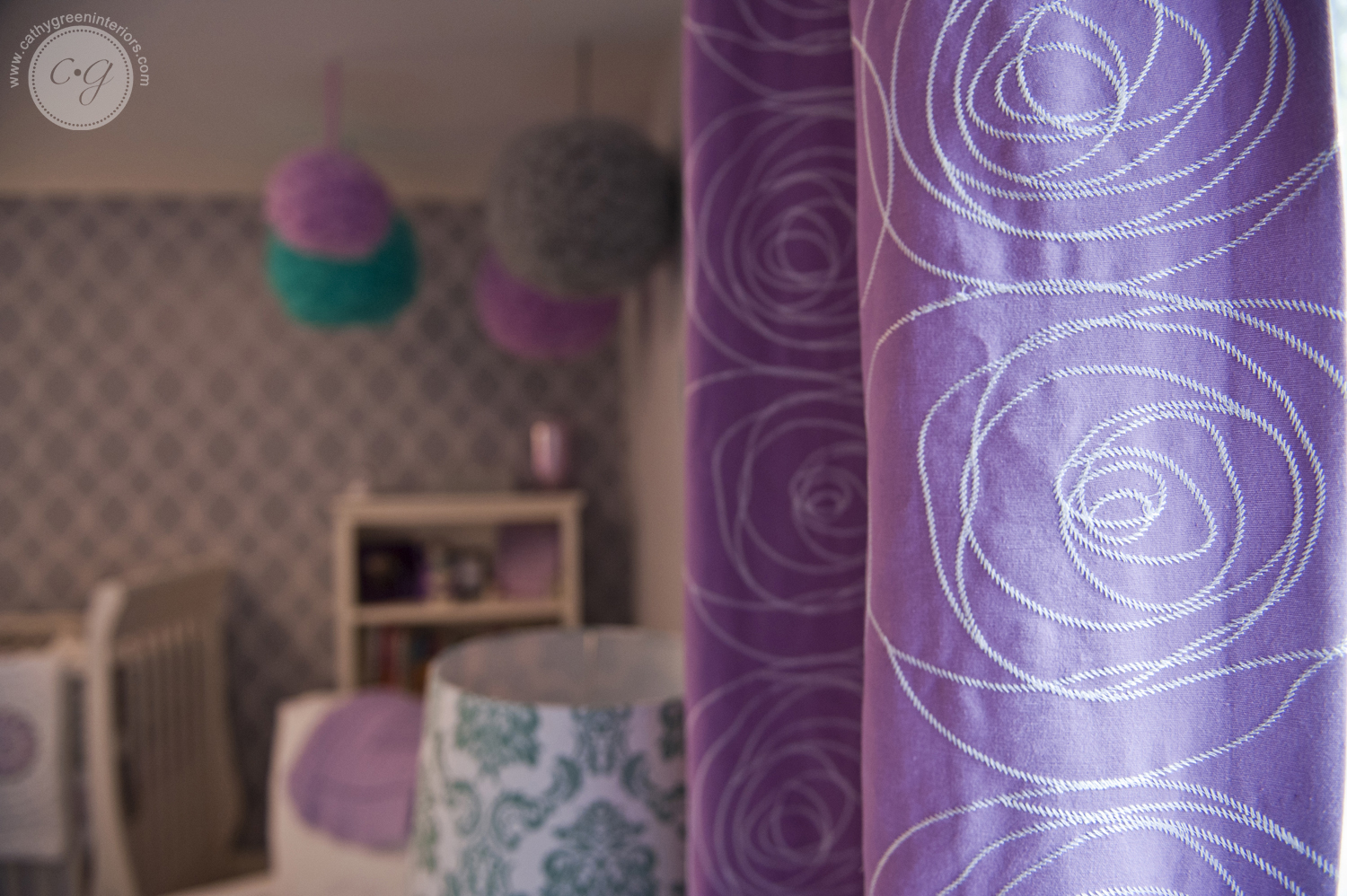 Purple Nursery Window Treatments, Chesterfield, VA