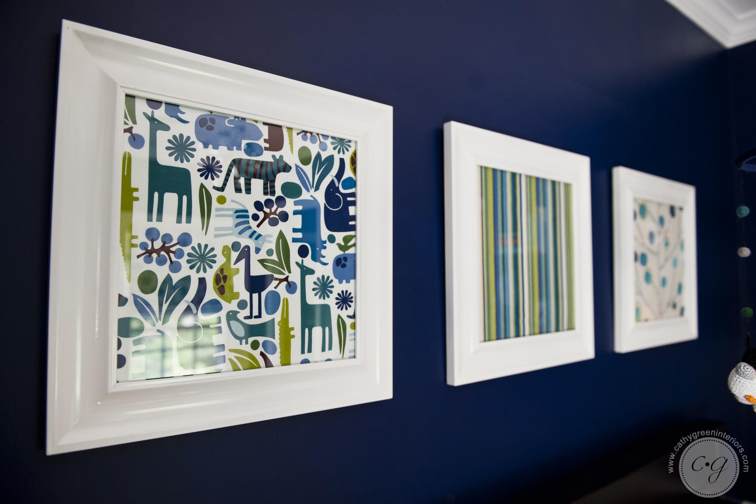 Navy and green nursery art - Richmond, VA