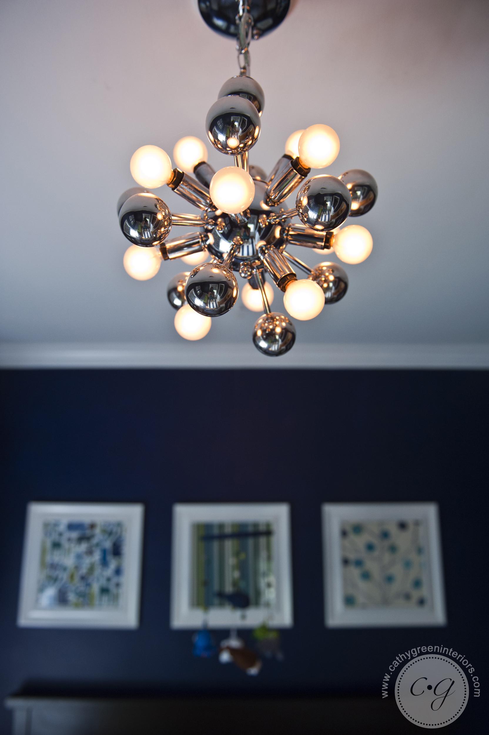 Navy and green nursery atom chandelier - Richmond, VA