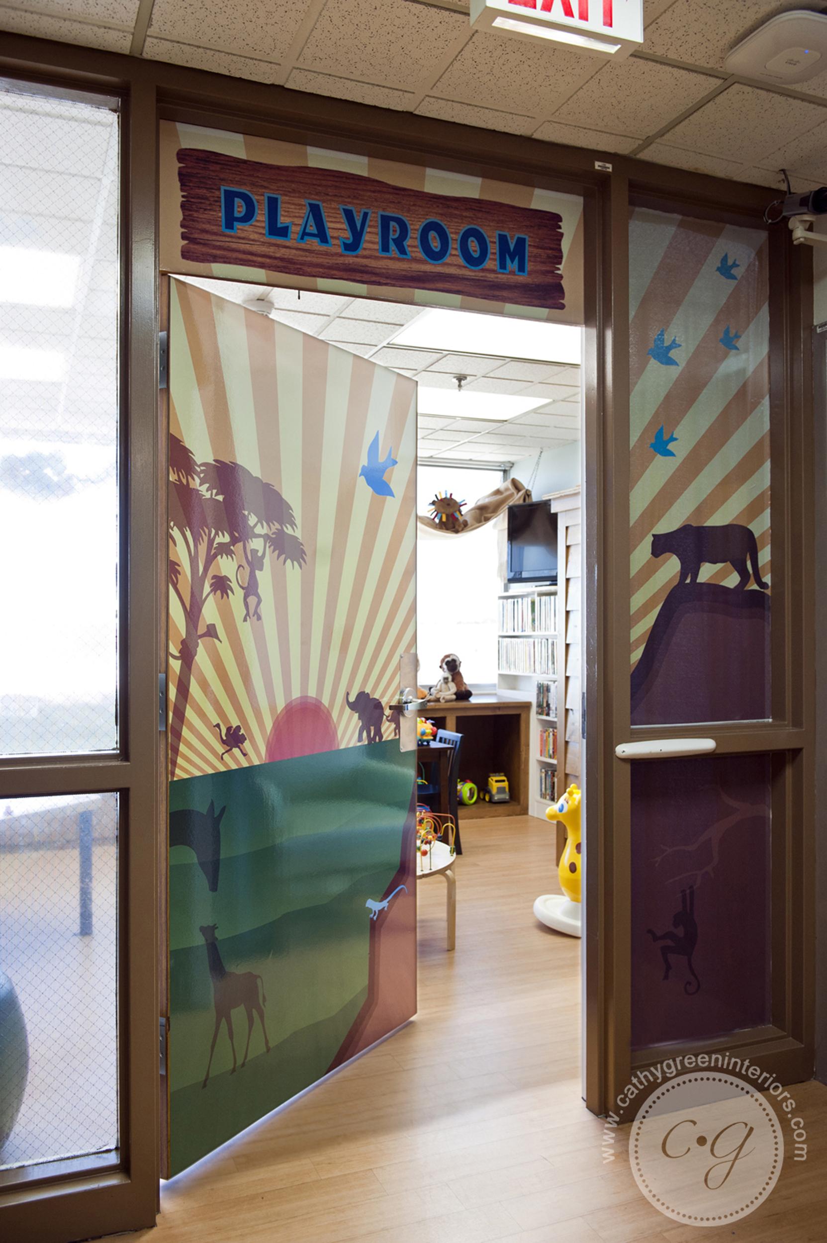 Chippenham Hospital Playroom door - Richmond, VA