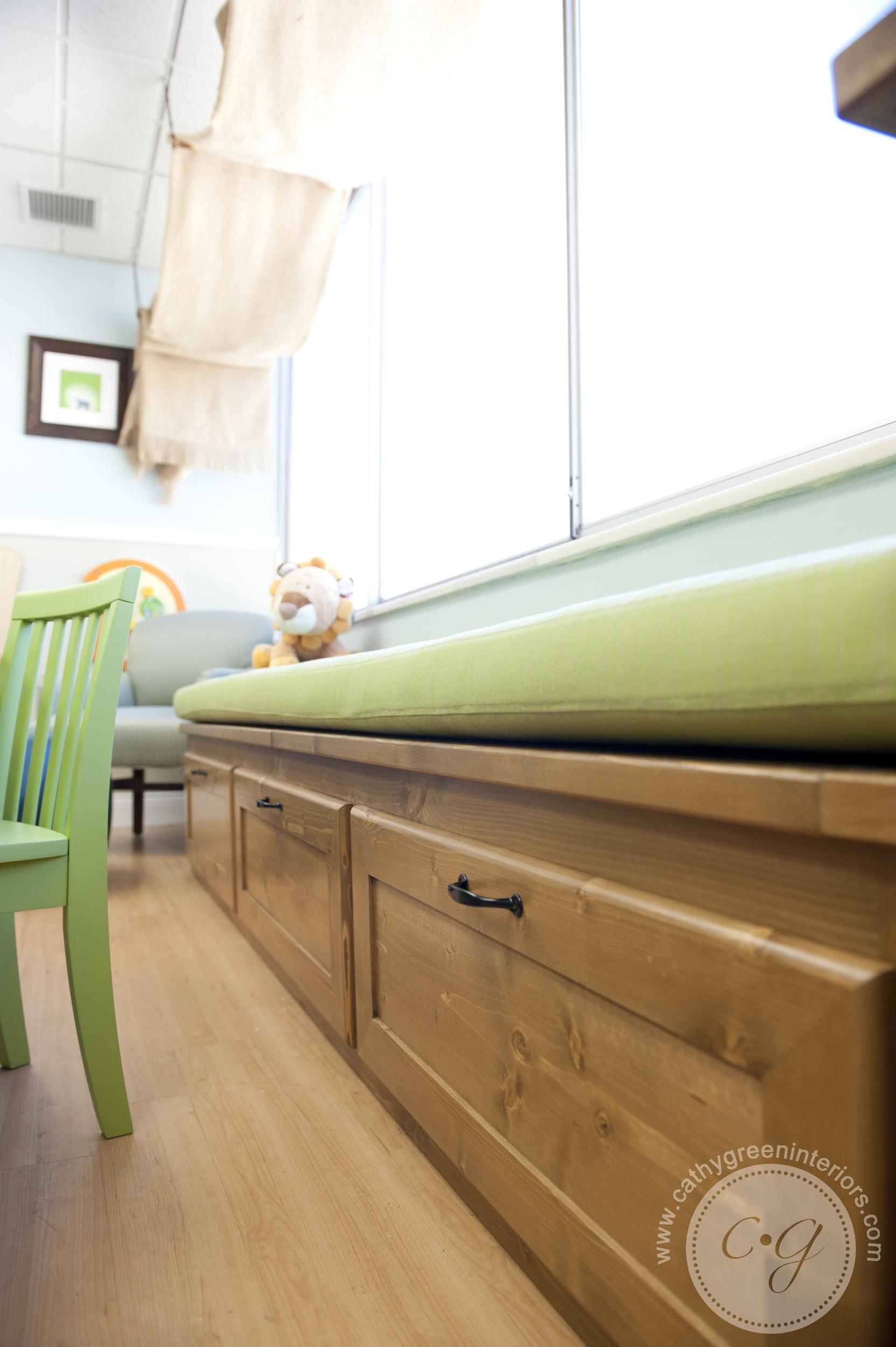 Chippenham Hospital Playroom window bench - Richmond, VA