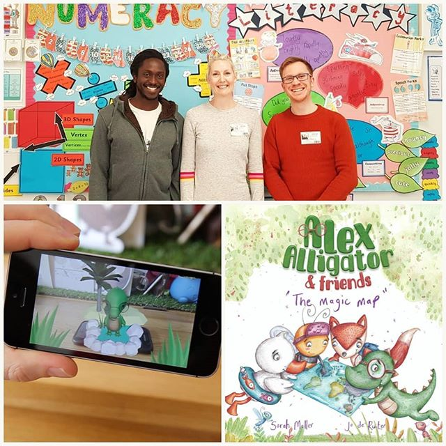 We had great fun teaching kids at Orion Primary School about storytelling in #AR What a bunch of bright kids! Big thanks to Sarah  @alexalligatorandfriends for bringing us along! . . . #worldbookday #storytelling #immersivestorytelling #teaching #tech