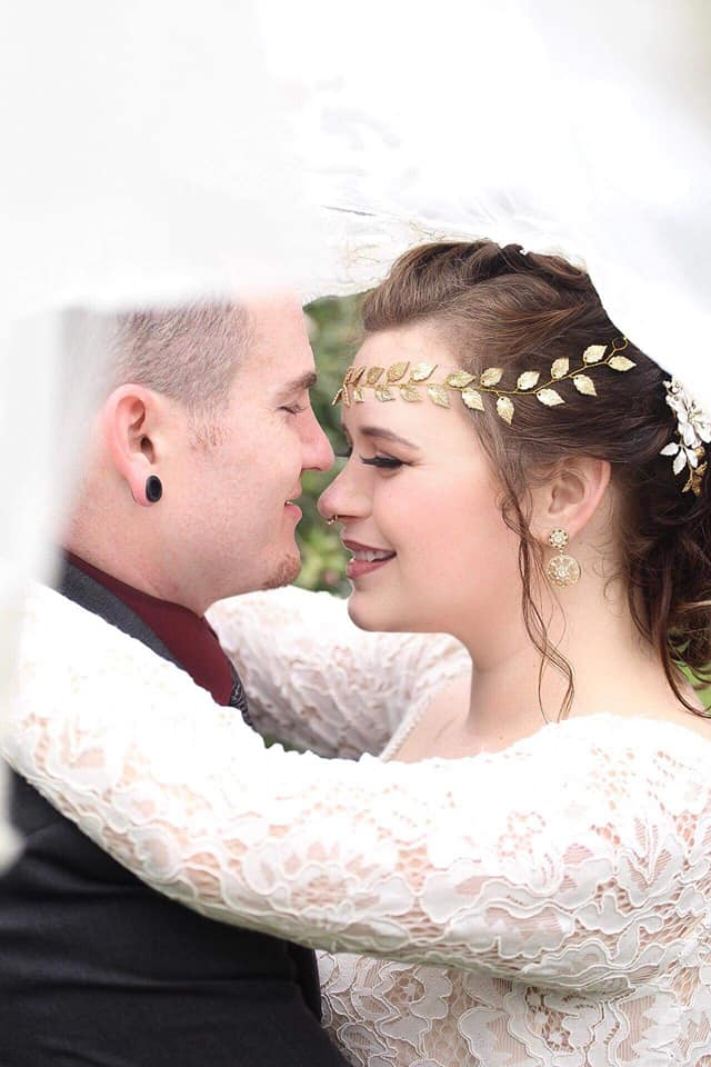 Our beautiful bride and her adoring new husband