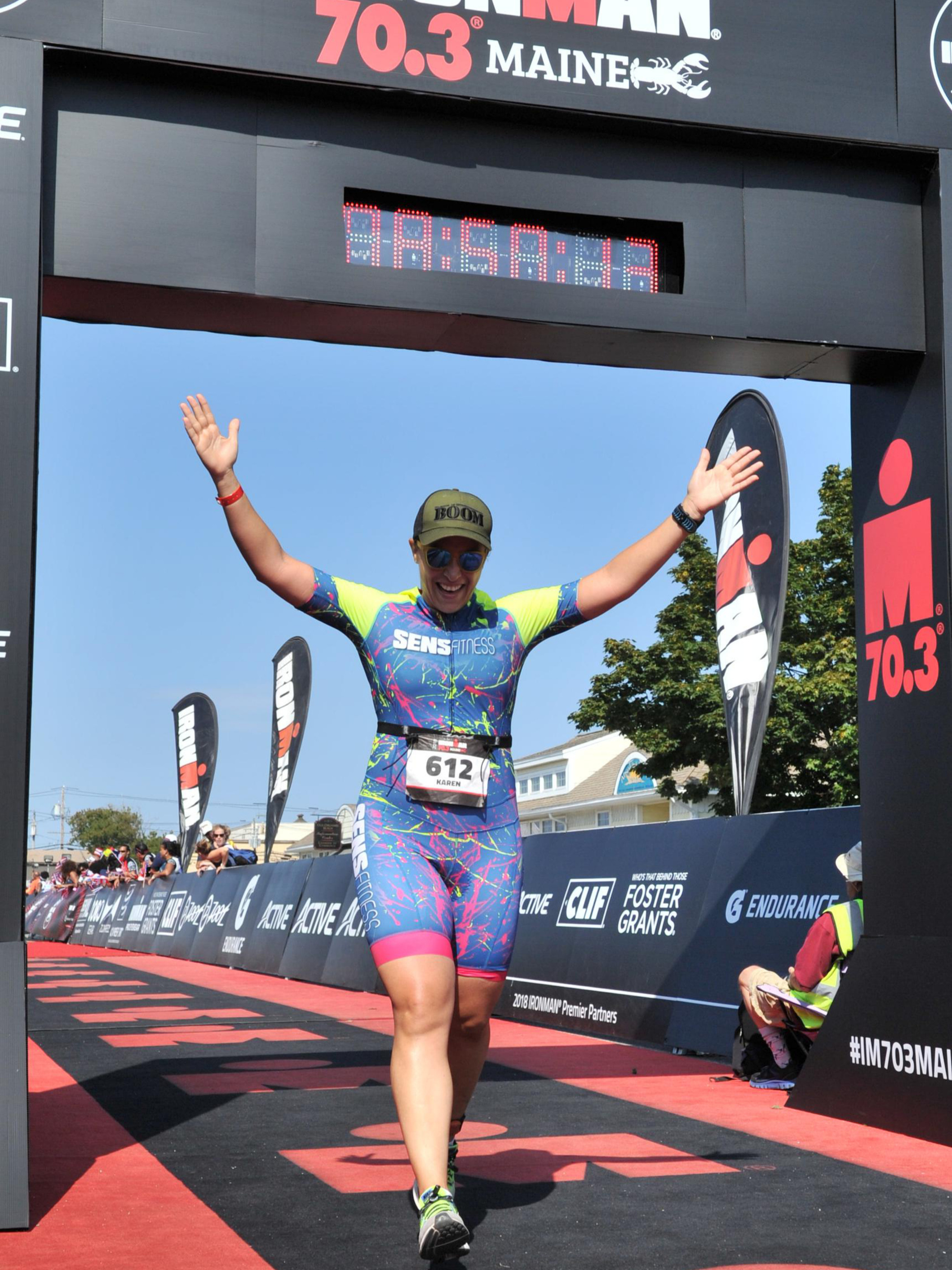 Karen Gazzale - Ironman 70.3 MaineUnable to swim a single pool lap to 70.3 finisher in 9 months.