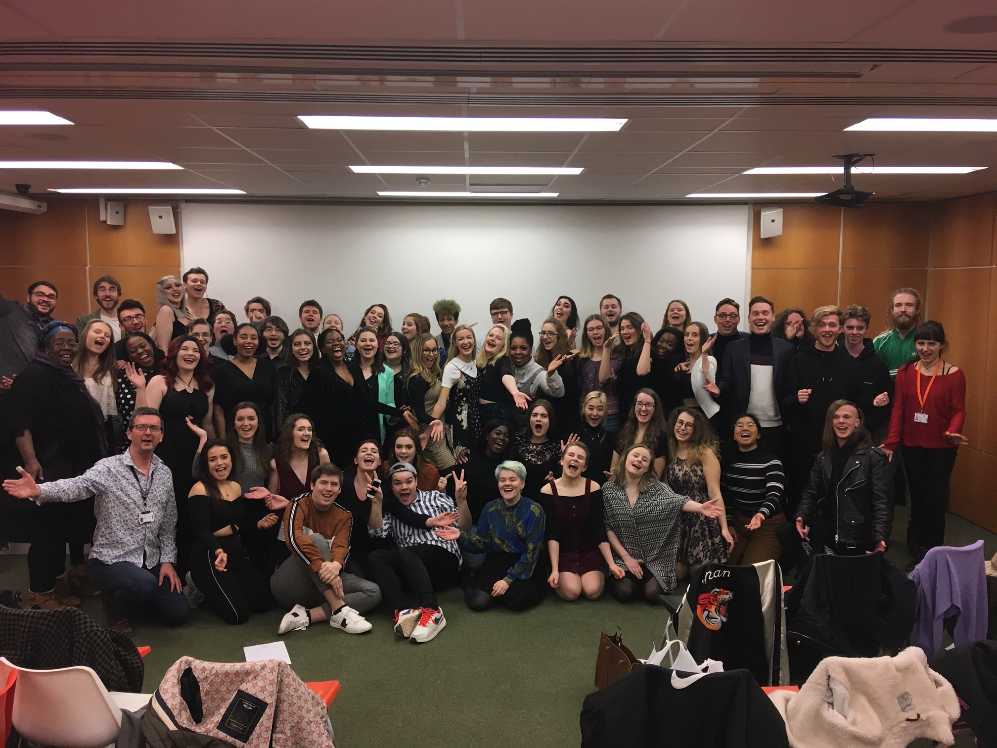 A happy group of Acting and Music Students after a successful screening!