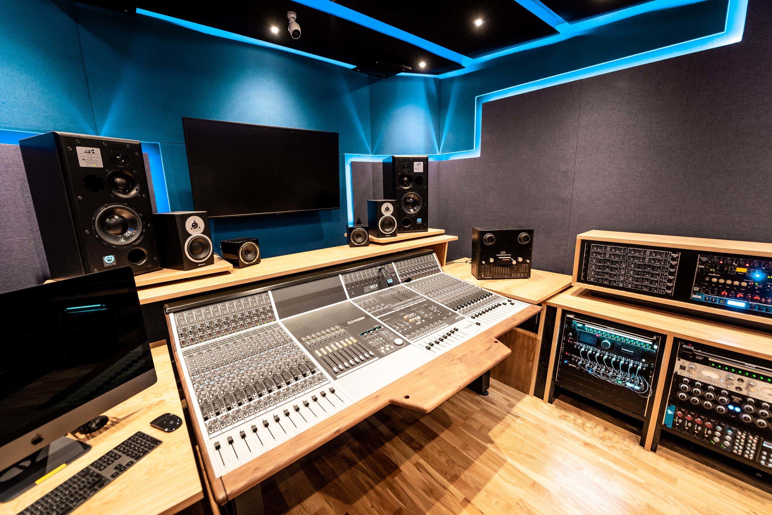 Music Recording Facilities at UCA Farnham, based around the Audient ASP8024