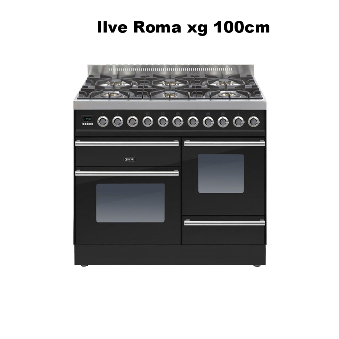 Roma 100cm XG 6 Burner Gloss Black PTW1006E3_NX_preview.jpeg