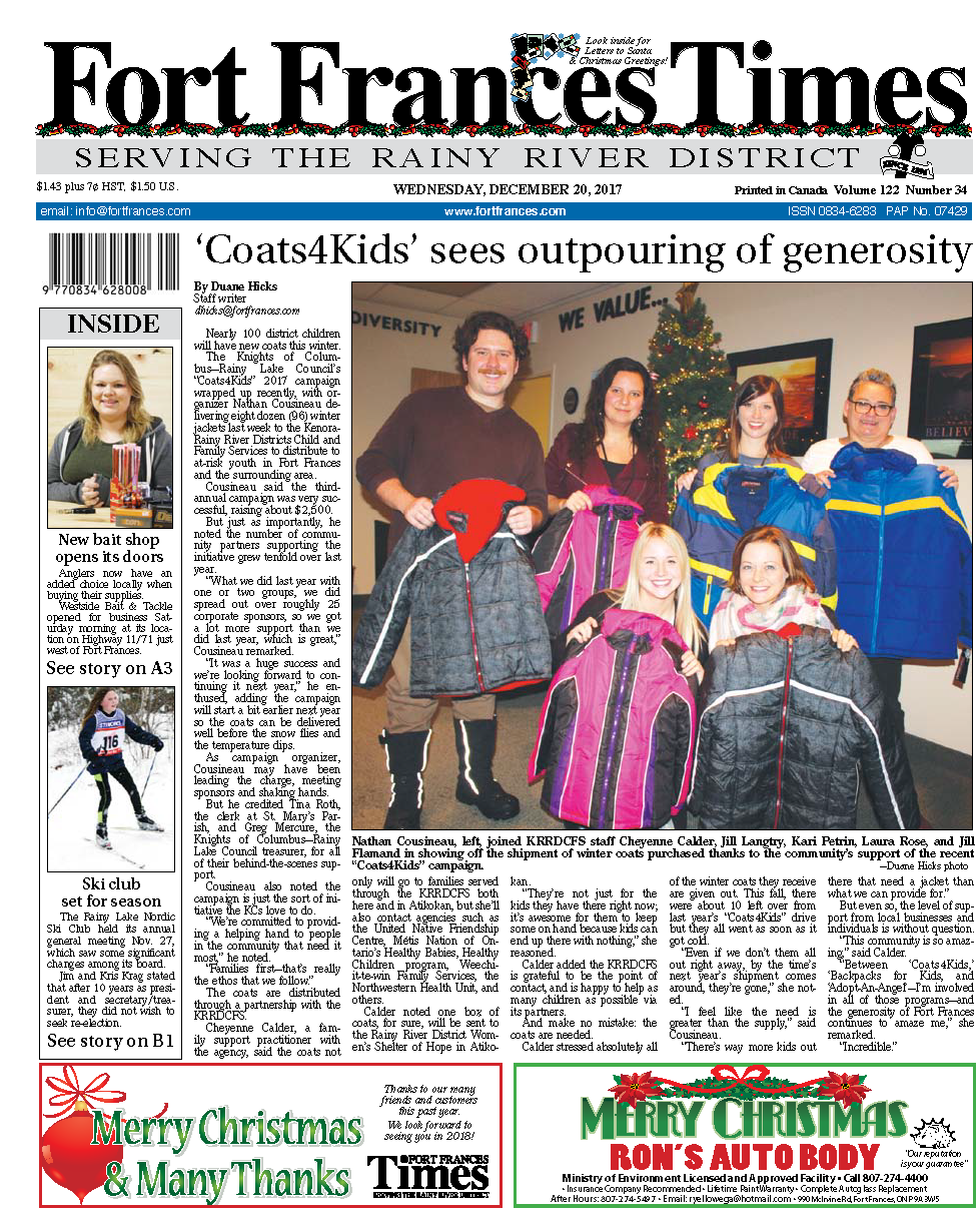 Coats for Kids News Article 2017
