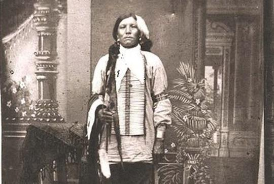 The only known photo of Lakota warrior Crazy Horse, though the validity of that claim is debated.