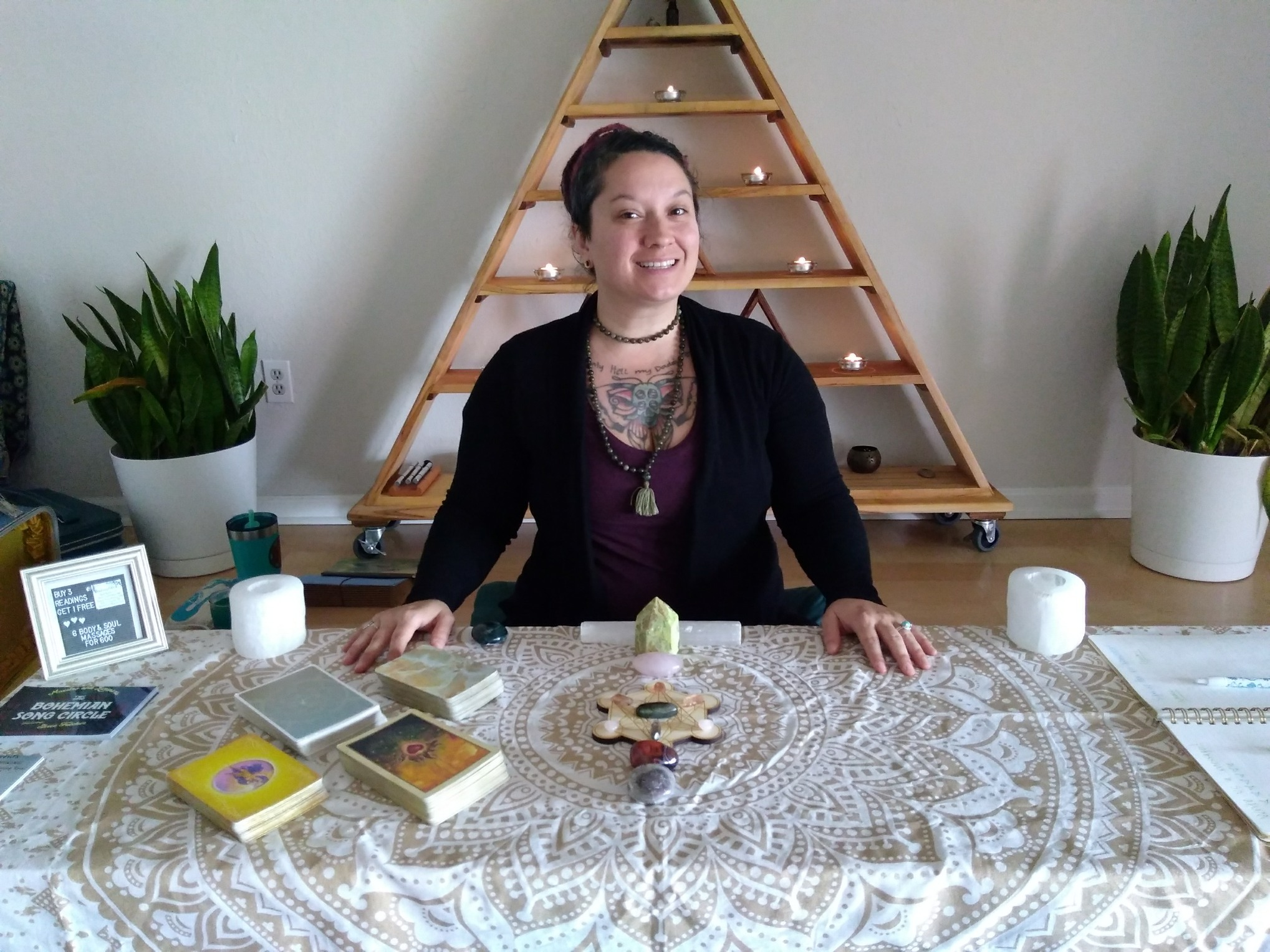 Shree Fulcher (ERYT200, Y12SR) - is a healer at heart. She brings a 200 hour ERYT certification, with the addition of over 108 hours of training in Bhakti yoga and Tantric philosophy. Extensive Yoga Nidra, Meditation, and Restorative Yoga training gives her a deeper understanding of the more subtle experiences of yoga. Shree has also received certification, through Y12SR, to teach Yoga for Recovery and relapse prevention. Having studied under powerful leaders such as Janet Stone, Nikki Myers, Tommy Rosen, Dana Walters, Jeremy Wolff, Patrick Harrington, Hareesh Wallis, and Jason Neemer, her education and understanding of yoga is both expansive and eclectic. She continues her learning journey, as she travels the world to find new and exciting ways to bring Yoga, as a way of healing, to the people and places that she loves. Shree` has been an intuitive/spiritual massage therapist for over 10 years and received her Reiki 1&2 attunements in 2015. She also offers her intuitive gifts through readings, from a variety of Oracle Cards, and facilitates personalized Star Seed Awakenings, from The Human Design.