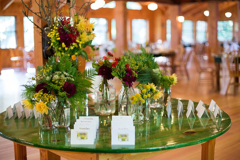 Malloy Weddings | New England wedding planner | Wedding reception on Squam Lake