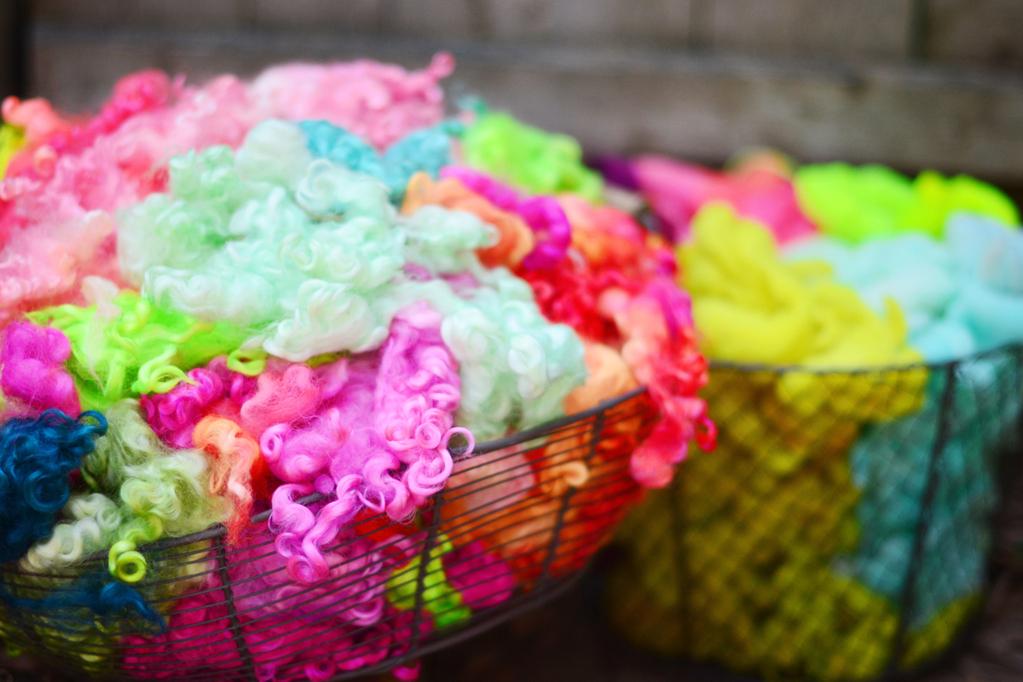 Hand Dyed Cotswold Wool Fleece