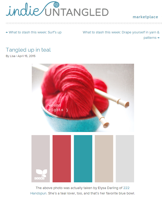 Tangled up in Teal by Indie Untangled