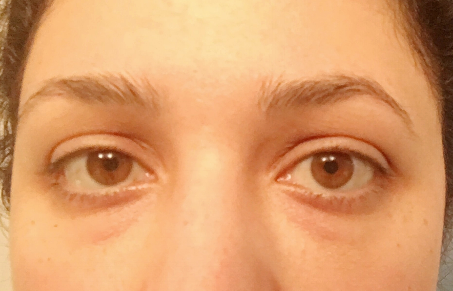 Before eyelash extensions with no makeup on.