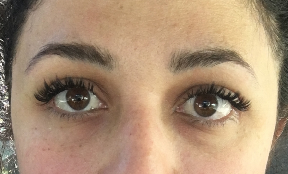 After eyelash extensions with no makeup on
