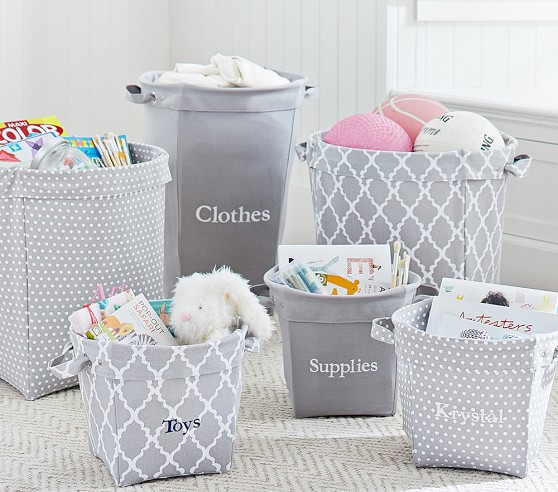 Pottery Barn has some really cute bins!