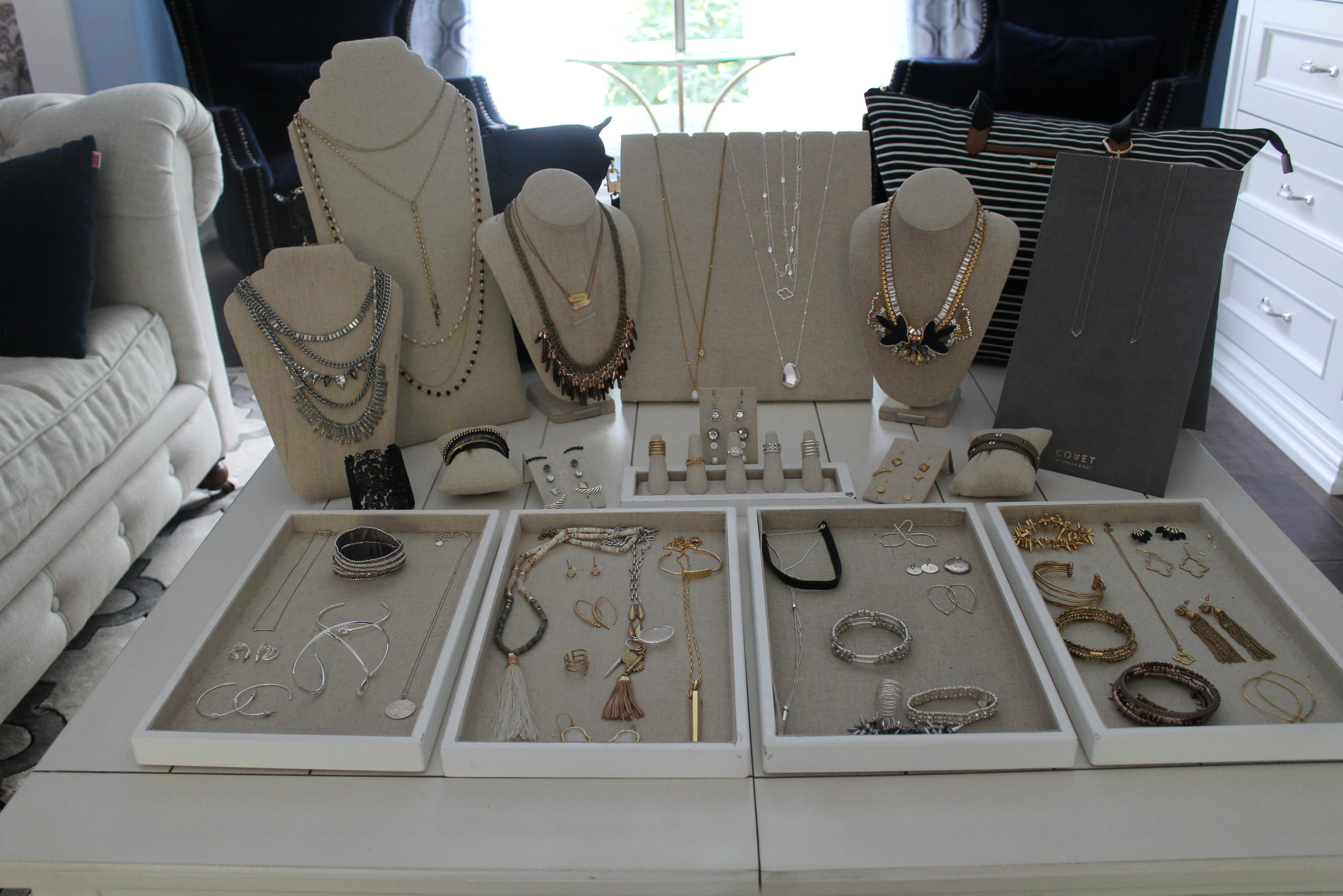 This is only a fraction of what's actually available online, but I was lucky enough to get to play dress up with all this jewelry and accessories for a day!