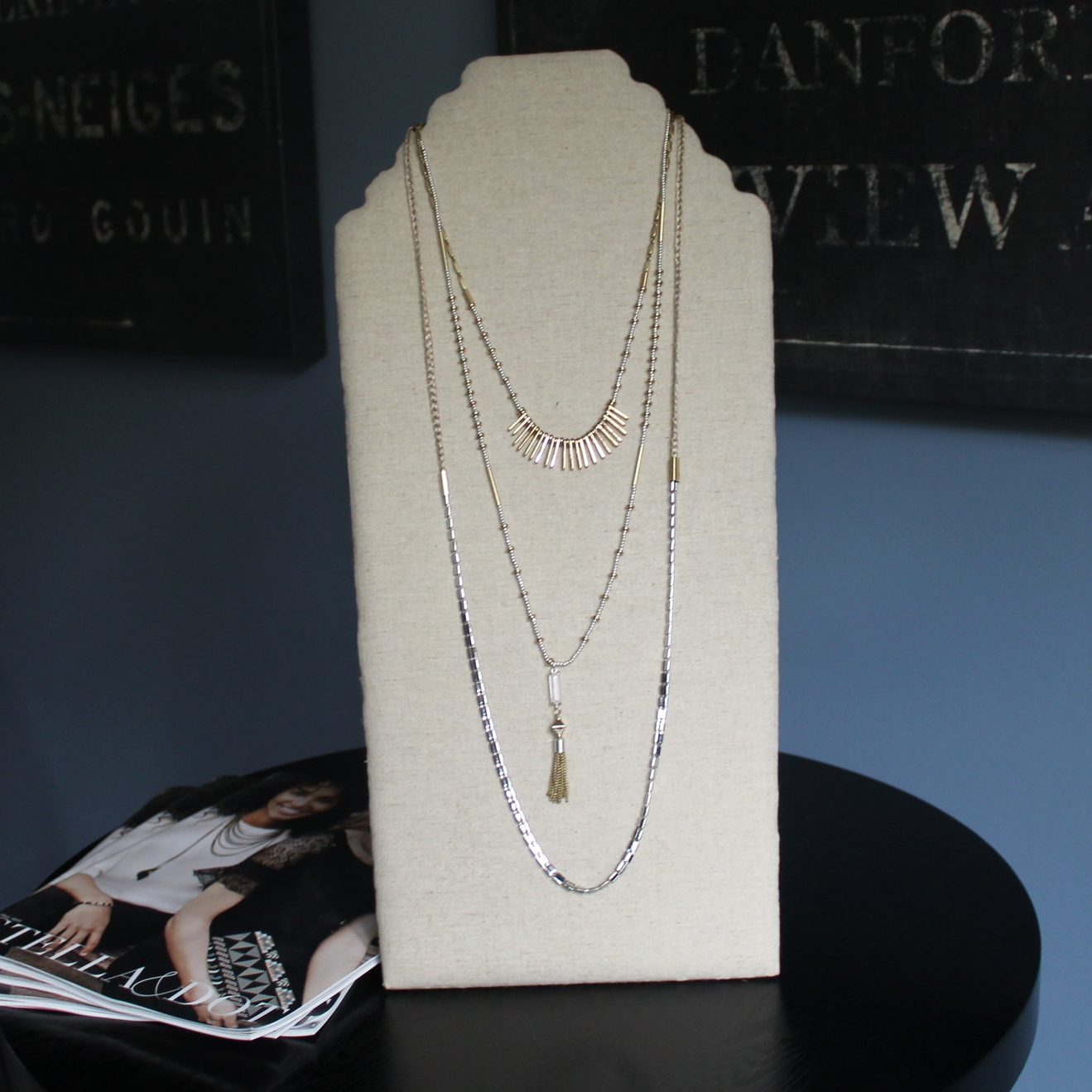 Although this is sold as 1 piece, each strand can be worn separately, so you can wear as many or as few strands as you want!