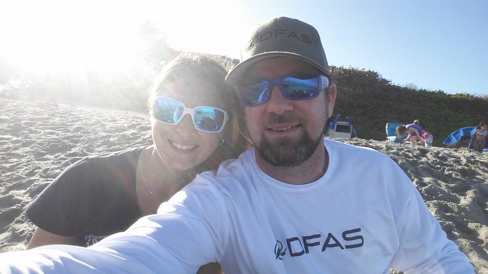 Abstract artist, Liz Friel with husband and marine artist,  Dennis Friel .