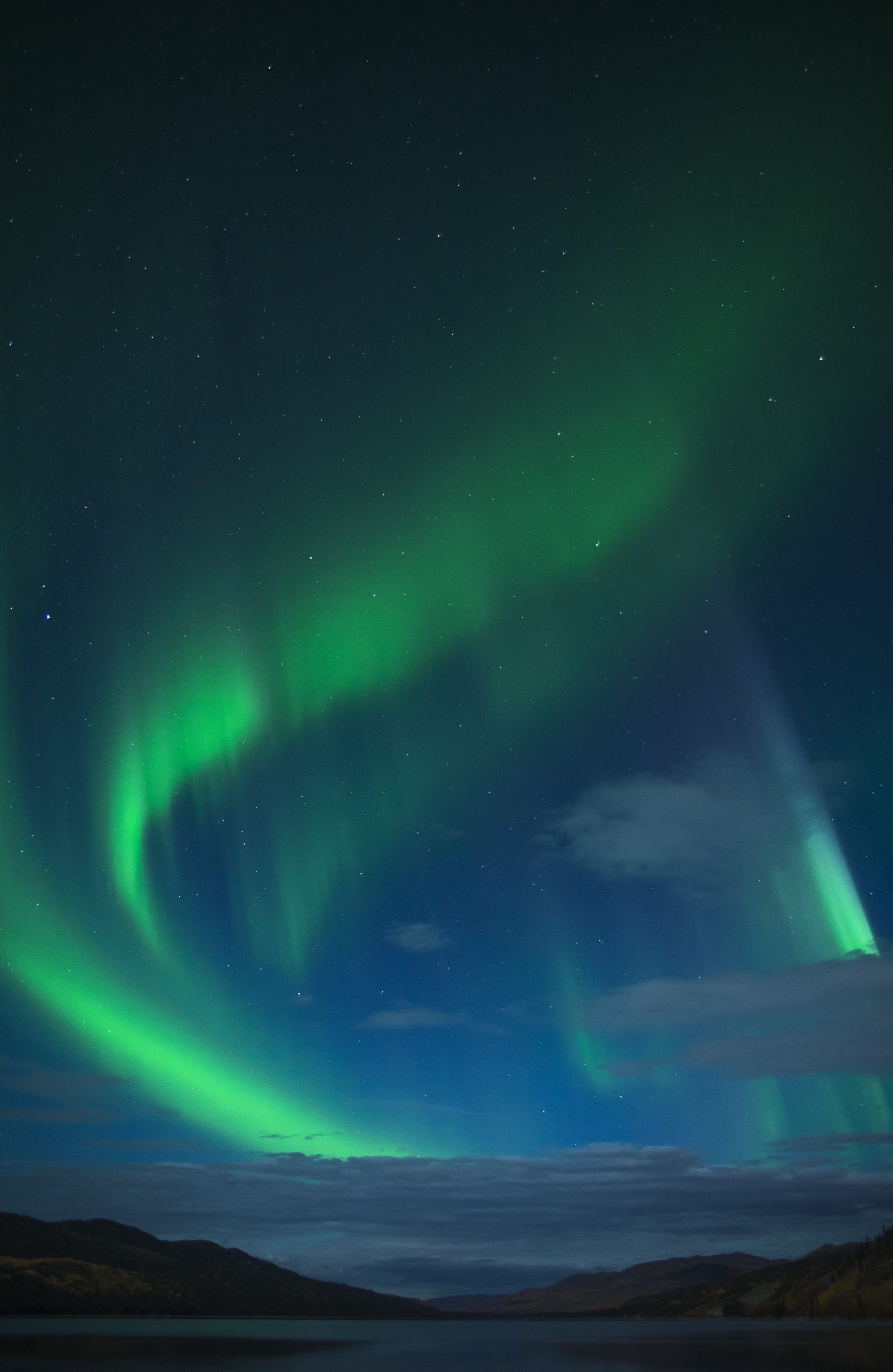 swirling aurora, north of 49 photography workshops