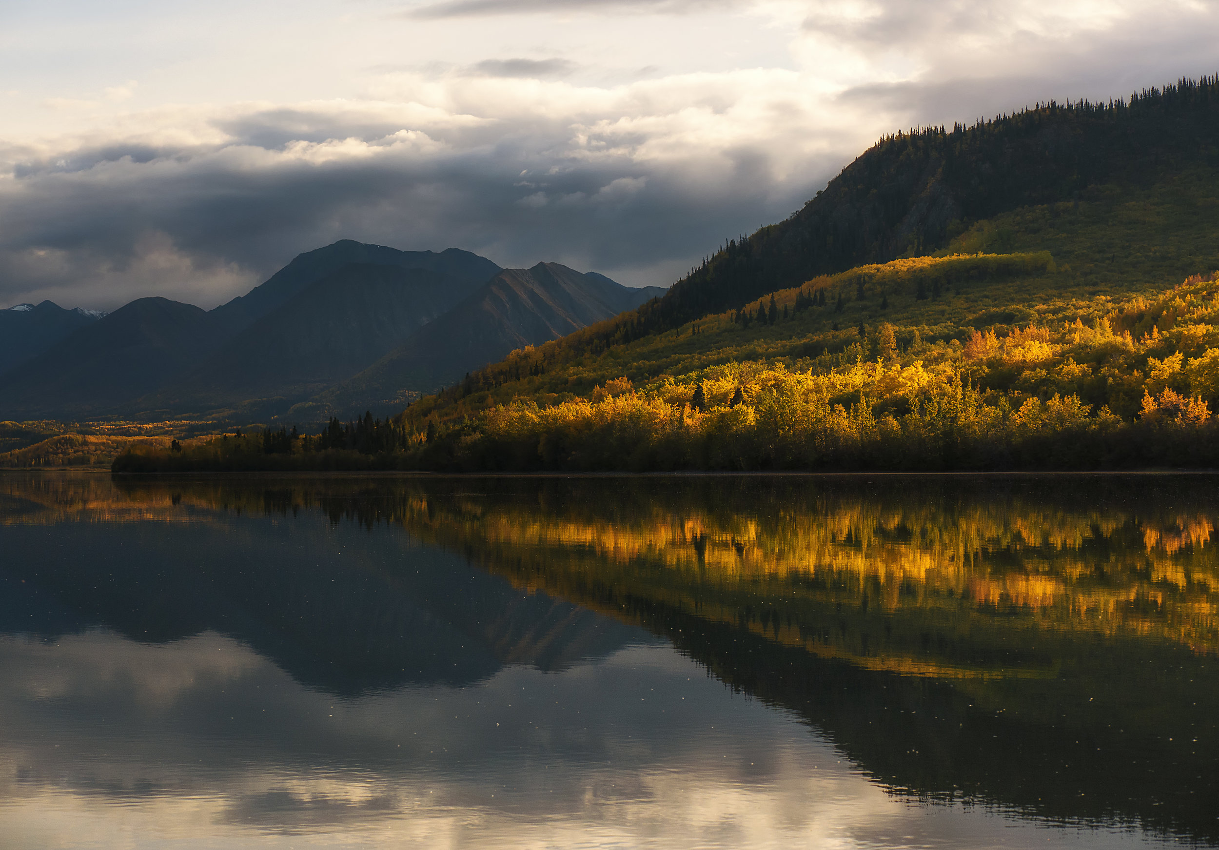 Great Lake reflections in southern Yukon by Chris Pepper