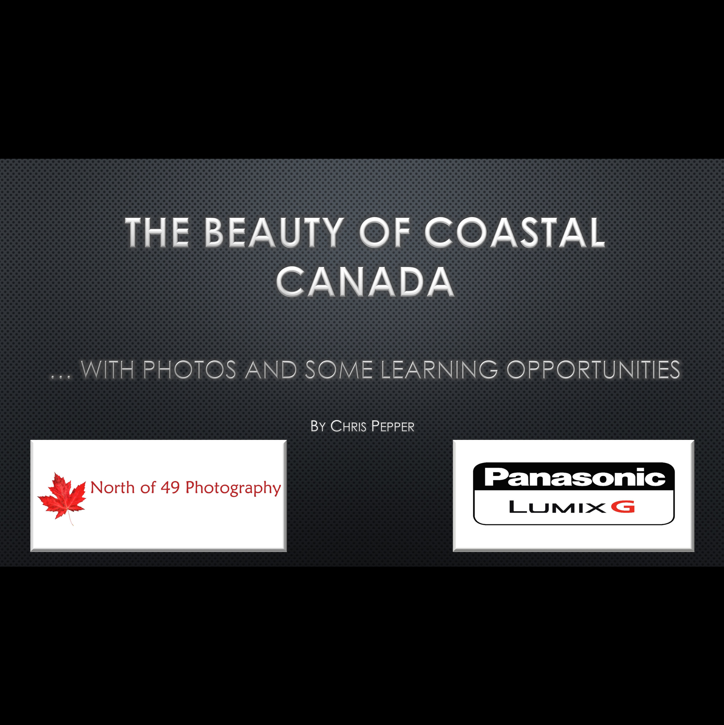 Coastal Canada speaking engagement with Chris Pepper