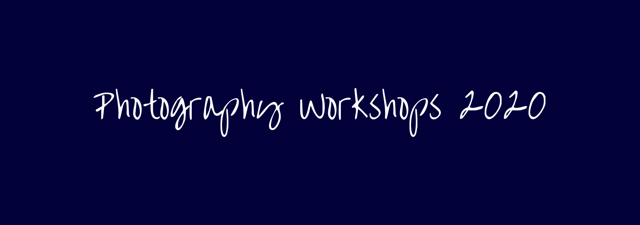 photography workshops 2020