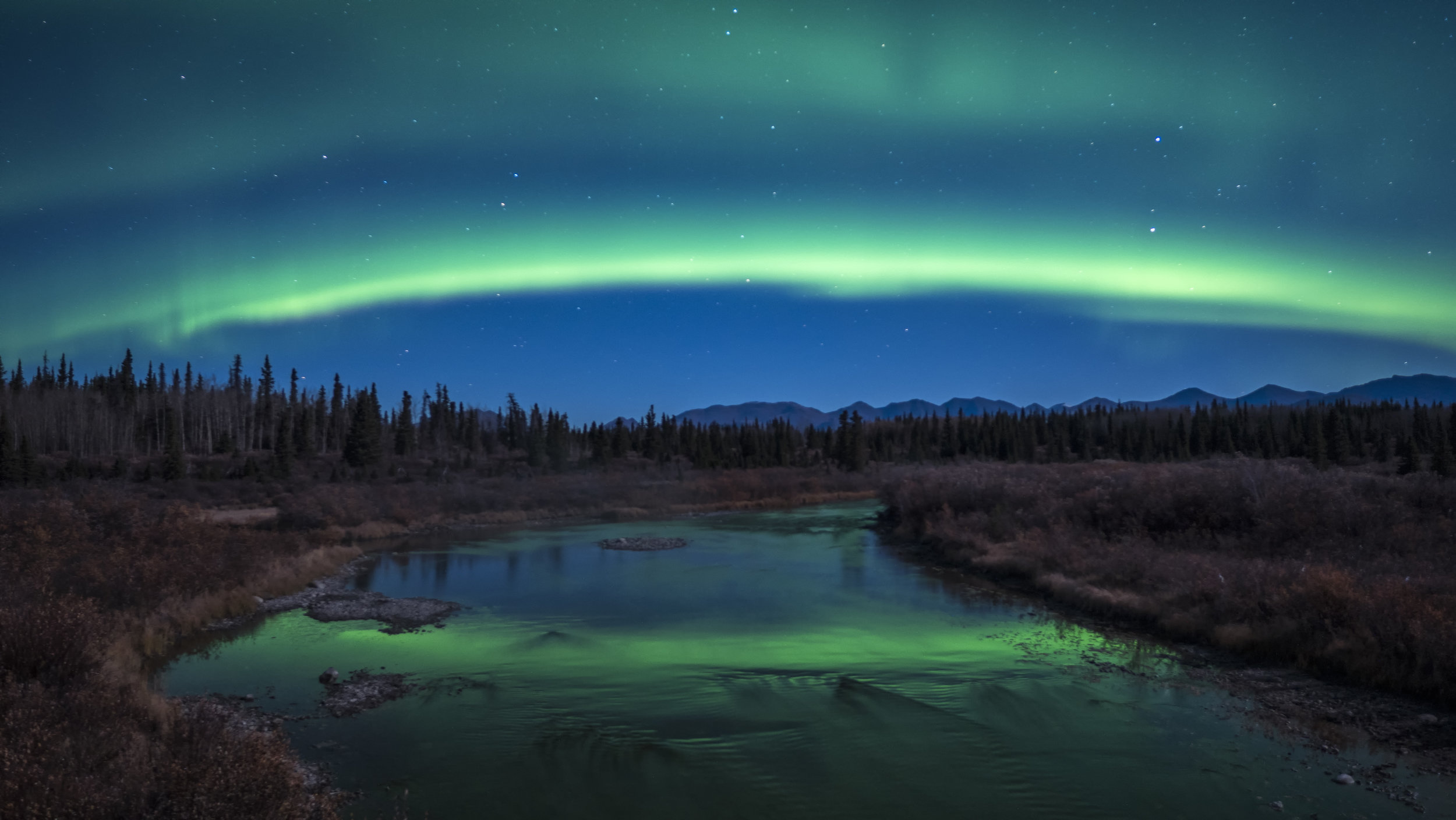 Aurora photography workshops using Lumix G9