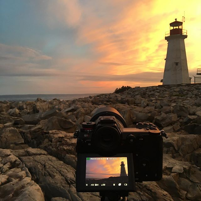Testing out the Lumix S1R in high resolution mode tonight down at the lighthouse in Nova Scotia .  #lumixstories #lumixcan #lovethiscamera