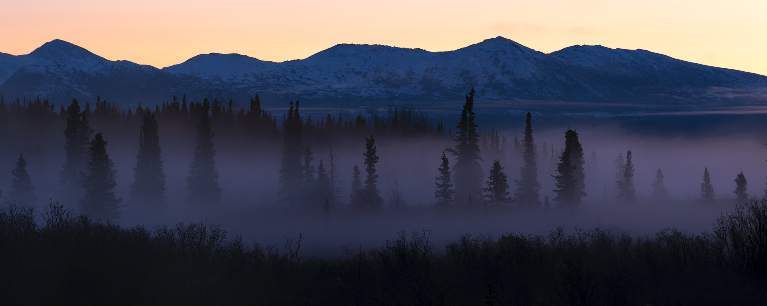 Alpine glow along the Alaska highway