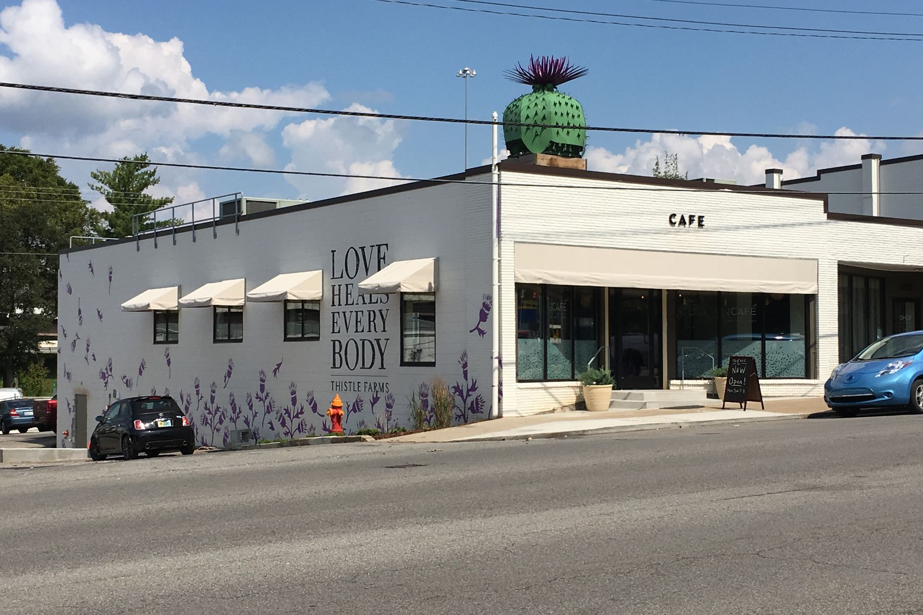 Nashville Eater    The Cafe at Thistle Farms Reopens After Monthslong Renovation   After a nearly eight months' long renovation,   The Cafe at Thistle Farms   reopened for business earlier this morning in West Nashville.