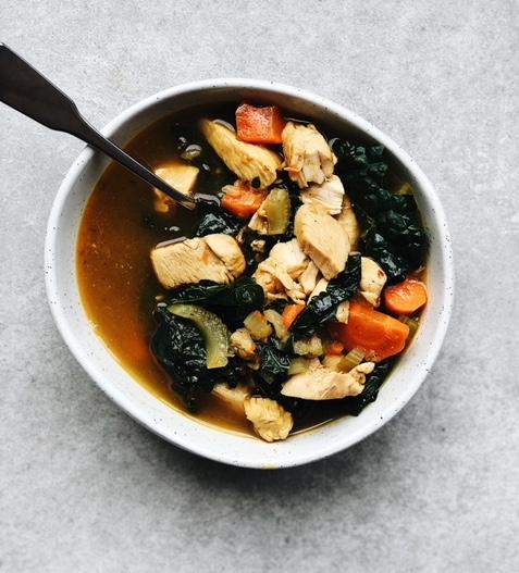 Chicken + Kale Nourishing Soup (paleo).