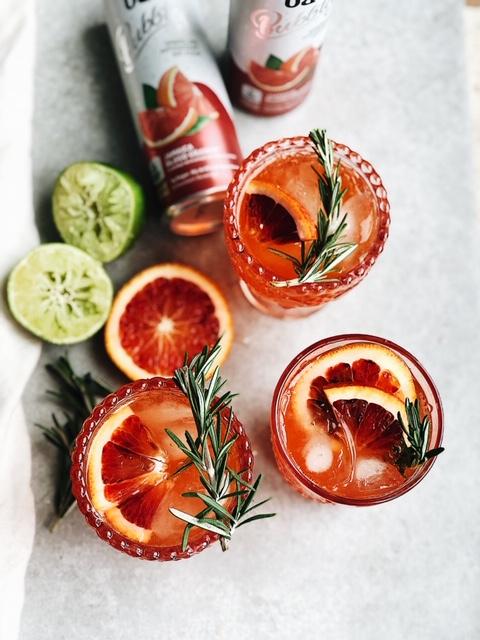 blood orange low sugar cocktail + a favorite holiday app!