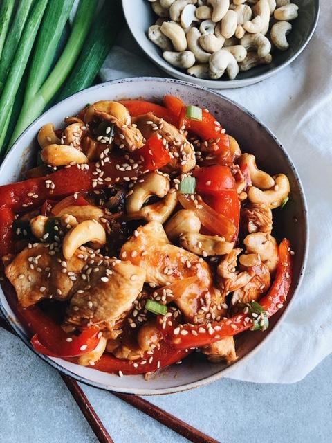 no sugar added simple paleo cashew chicken stir fry