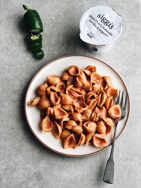 healthy taco pasta (gluten free, nut free).