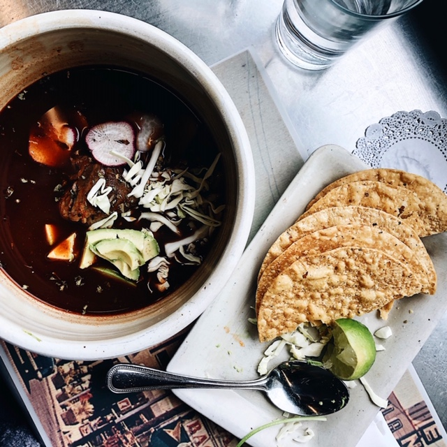 pozole from dove's luncheonette