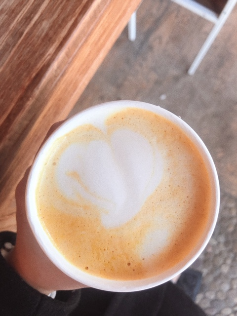 turmeric latte from cafe streets