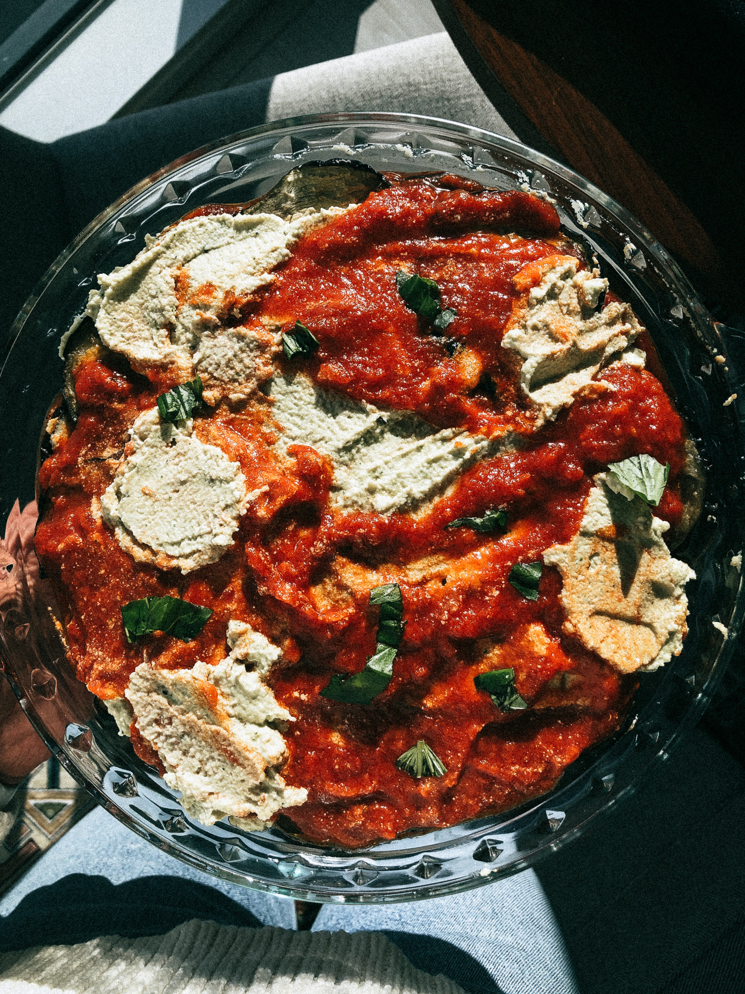 dairy free and gluten free eggplant ricotta 'lasagna' (paleo, vegan).