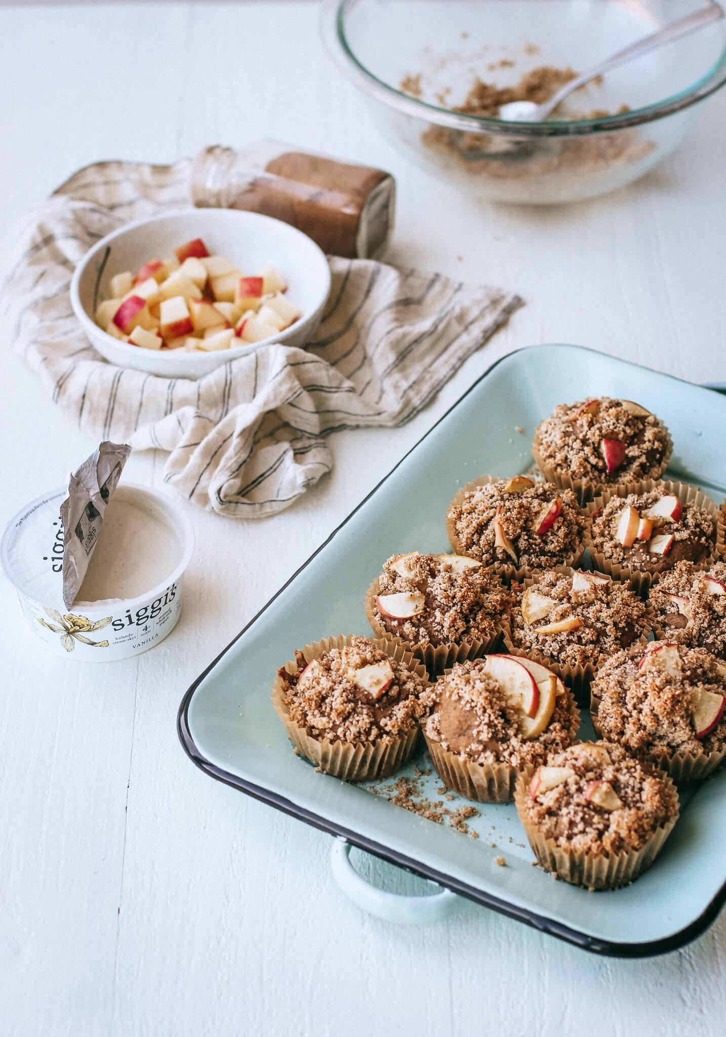 Healthy Gluten Free Apple Cinnamon Muffins