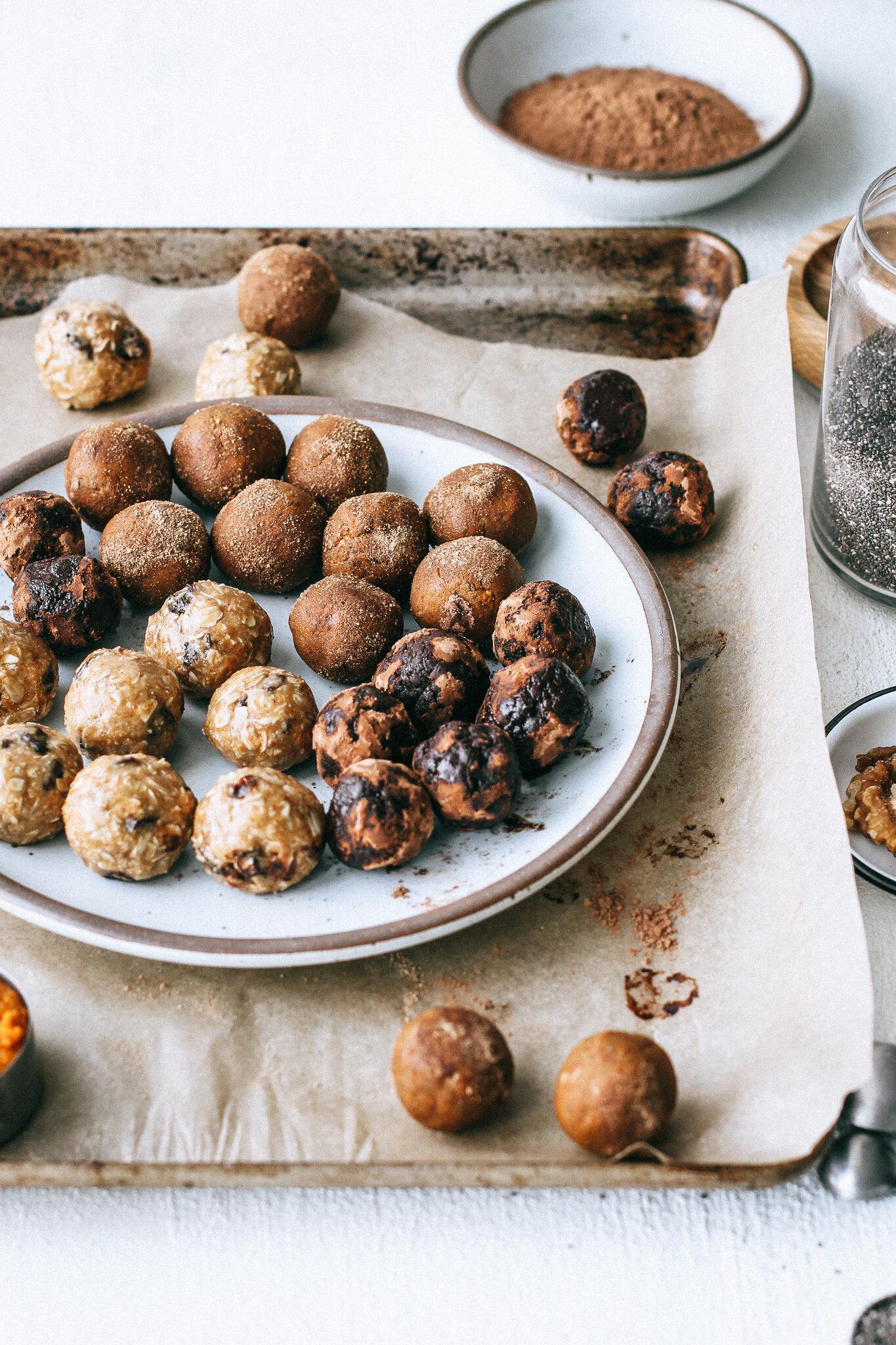Bliss Balls, 3 Ways (gluten free, dairy free).