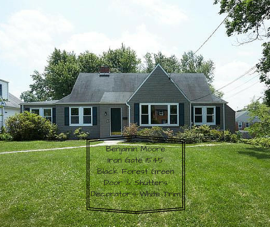 If you're looking to paint the exterior of your home a dark color this one turns out fabulous on a traditional home.